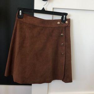 1 State suede like mini skirt